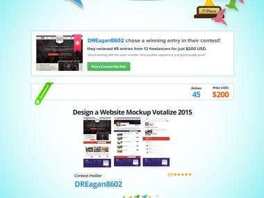 Design a Website Mockup Votalize 2015