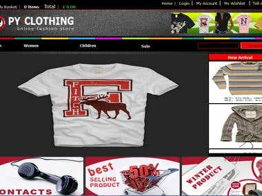 Ecommerce Site  http://www.pyclothing.com/