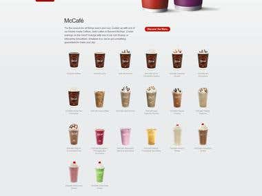 Coffee and Beverages Website