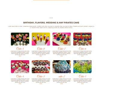 Pops Cake Company Website