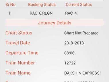 PNR Status Enquiry App