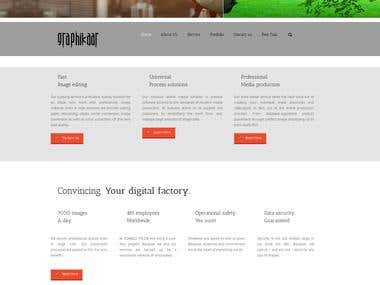 Design agency portfolio website