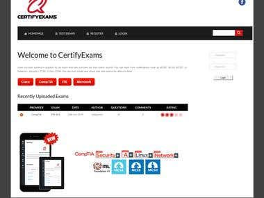 Certifyexams - online interactive exam/test and results
