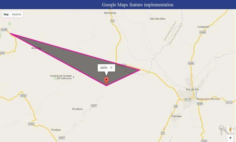 Google Maps feature implementation | Freelancer