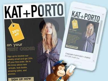 KAT + PORTO  Responsive Mailchimp Template - katporto.com