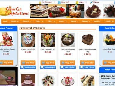 Pastry Shop Site - Ecommerce - Sugarsin-Temptations