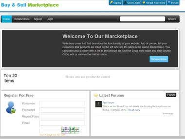Buy and Sell Marketplace