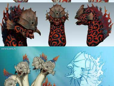 Hydra Concept sea monster
