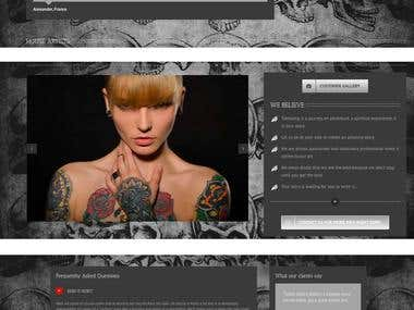 Tattoo studio web-site