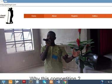 Singing Competition Website