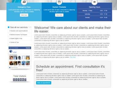 Website template of Dentist.