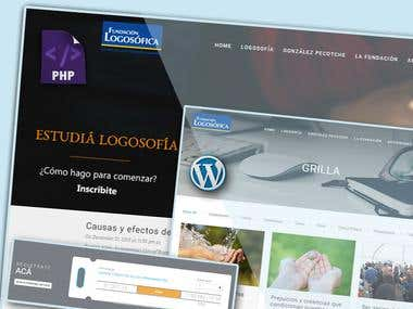 Logosofica Fundacion Wordpress based Event & Blog Portal