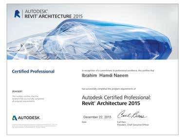 REVIT ARCHITECTURE CERTIFIED  PROFESSIONAL
