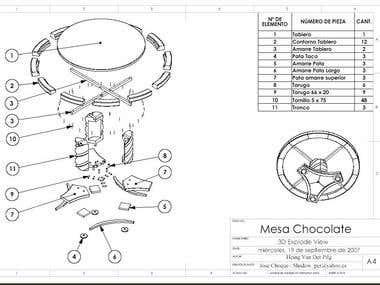 Mesa Chocolate 3D