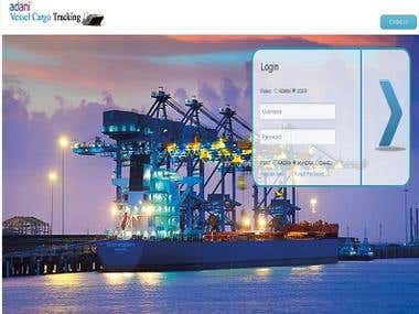 Vessel and Cargo Live Status Web Based Application