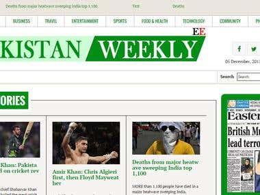 Multi side news portal for Pakistan