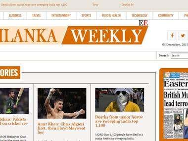Multi side news portal for Srilanka