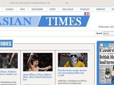 Multi side news portal for Asian