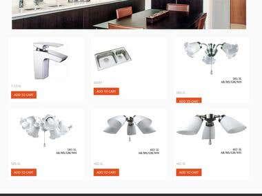 OpenCart - Online Store For Bathroom & Lighting Designs