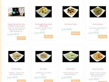 OpenCart - Online Store For Dried Fruits & Nuts