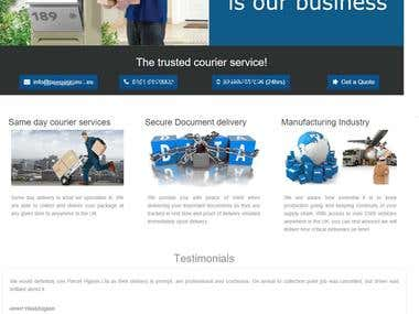Website for Courier Service UK