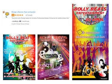 Design a Banner, flyer and poster