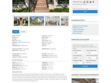Real Estate Website - RETS/IDX Feed