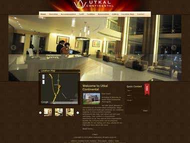 website designe based on Joomla