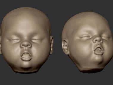 baby model for print