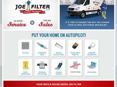 Joe Filter Site and eCommerce Store