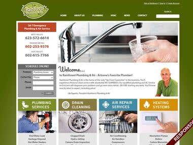 Rainforest Plumbing Website (in production)