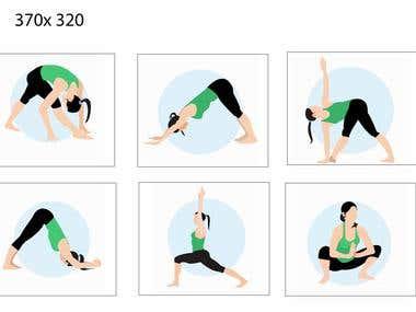 yoga fitness exercizes