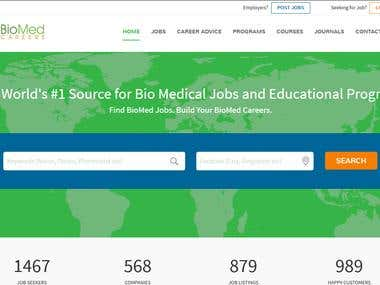 Bootstrap Website Design for BioMed Career