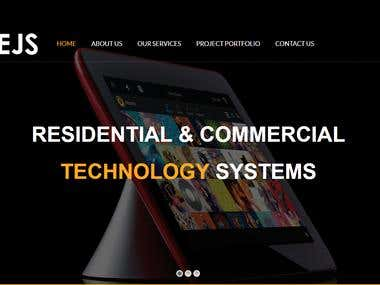 Wordpress Website for EJS Technology Systems