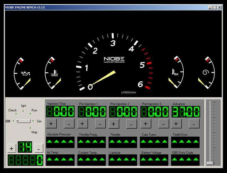 Portable Engine Simulator tool for ECU testing and fine tuni
