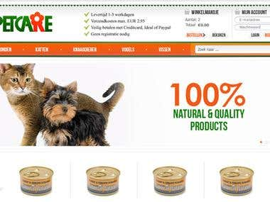 Petcare Shop - eCommerce Website