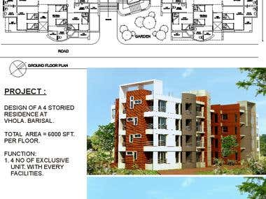 DESIGN OF A 4 STORIED RECDENCE.....