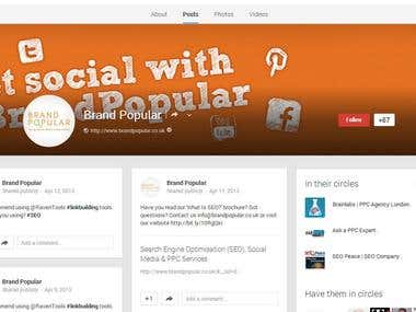 Brand Popular Google+