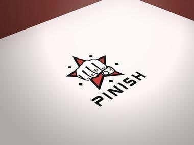 Pinish logo design