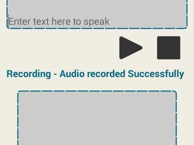 Text to speech and voice recorder