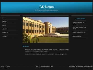 CS Notes Site