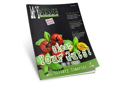 Magazine Cover Design, Formatting and Drafting