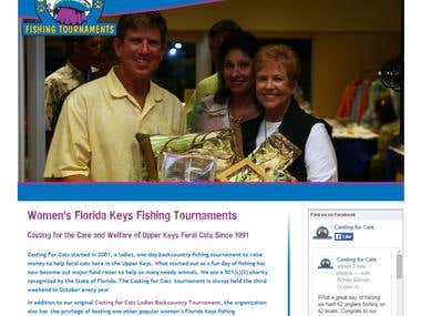 Fishing tournament web site by Wordpress