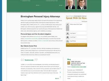 Wordpress Law firm website coded