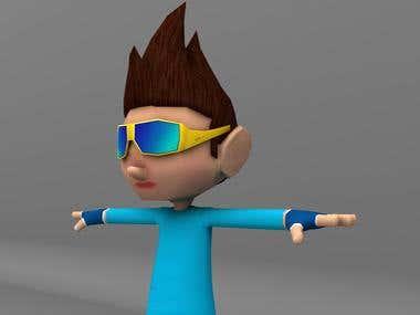 Cartoon Game Character 3d Model