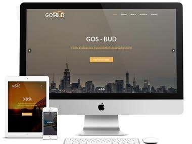 Strona dla formy budowlanej Gos - Bud