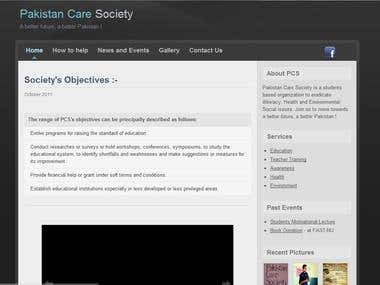 Pakistan Care Society (an NGO) 's Site