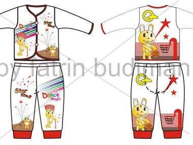 Design Baby T-Shirt  For Garment