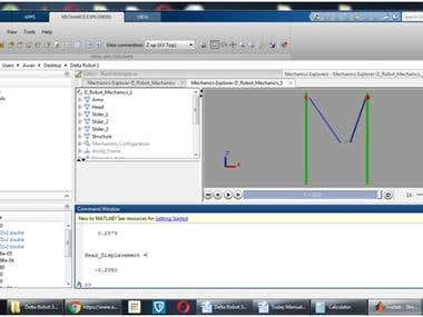 Simulation of Delta Robot using Sim Mechanics/Matlab
