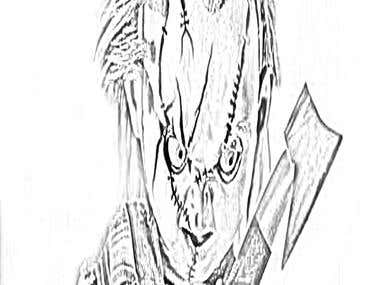 chucky drawing i did